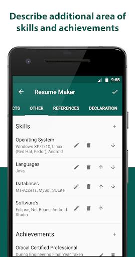 Resume Builder Resume Creator Free Cv Maker For Android Download Cafe Bazaar