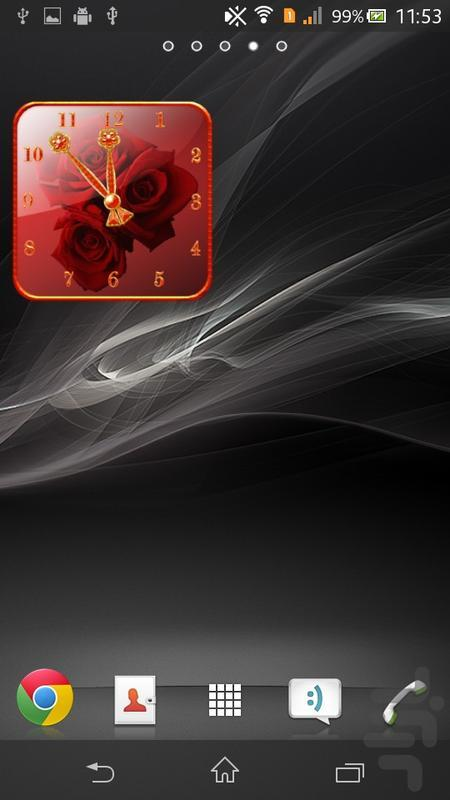 Rose Clock Widget lite - Image screenshot of android app