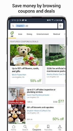 YP - The Real Yellow Pages - Image screenshot of android app