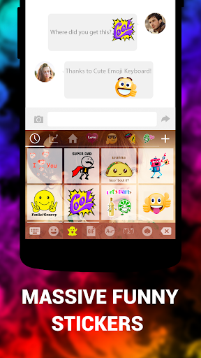 Emoji Keyboard Cute Emoticons - Theme, GIF, Emoji for Android - Download |  Cafe Bazaar