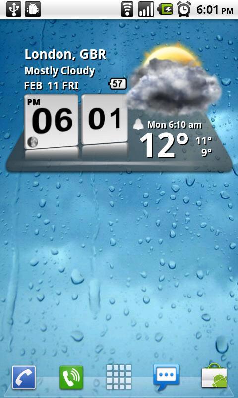 3D Digital Weather Clock for Android - Download   Cafe Bazaar