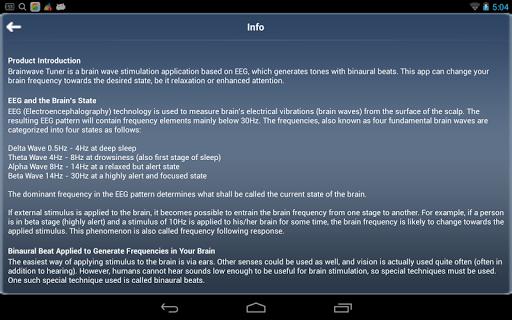 Brainwave Tuner for Android - Download | Cafe Bazaar
