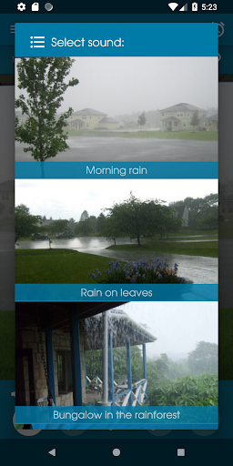 Relax Rain - Rain sounds: sleep and meditation for Android