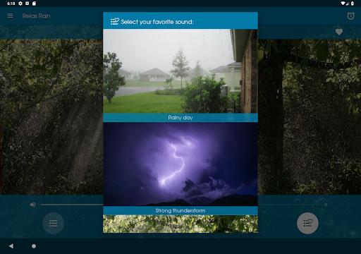 Relax Rain - Rain sounds: sleep and meditation for Android