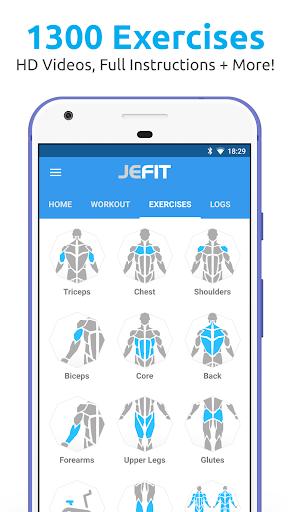 jefit workout tracker weight lifting gym log app download