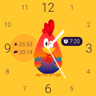 Rooster alarm clock