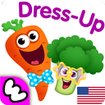 Funny Food DRESS UP games for toddlers and kids!😎