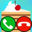 fake call and sms cake game