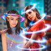 Light Crown Photo Editor 💫 Neon Effect Camera