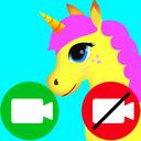unicorn fake video call game