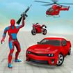 Flying rope hero robot game 3d
