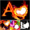 3d Fire Text : Smoke Fire Text Photo Frame Effect