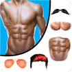 Man Abs Editor: Men Six pack, Eight pack man style