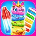 Rainbow Unicorn Glitter Ice Cream - Cooking Games