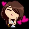 Emoji girly stickers - WAstickerapps