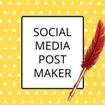 Social Media Post Maker, Thumbnail & Cover Maker