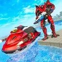 Jet Ski Robot Game: Submarine Robot Transformation
