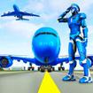 Robot Pilot Airplane Games 3D