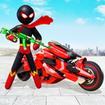 Stickman Moto Bike Hero: Crime City Superhero Game