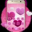 Fluffy diamond Hearts Theme: Pink Comics Launcher