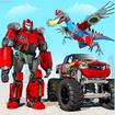 Flying Dino Robot : Monster Truck Police Car Game