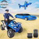 US Police Quad Bike Car Transporter Games
