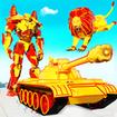 Flying Tank Transform Robot War: Lion Robot Games
