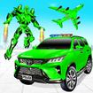 Flying Prado Helicopter Car Transform Robot Games
