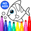 Learning & Coloring Game for Kids & Preschoolers