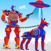 Police Dog Robot Car Game - Robot Transform Games