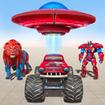 Space Robot Transport Games - Lion Robot Car Game