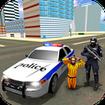 US City Police Car Prisoners Transport