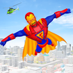 Flying Superhero Robot Games
