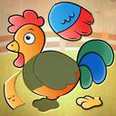 Toddler Kids puzzle game - Animals