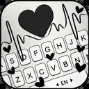 Black Heartbeat Keyboard Theme
