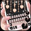 Black Pink Glitter Keyboard Theme