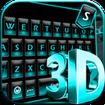 Blue Neon Fonts Tech Beam Keyboard - Neon fonts