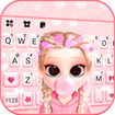 Bubble Gum Doll Keyboard Background