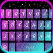 Colorful 3d Galaxy Keyboard Theme