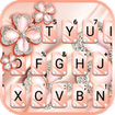 Coral Luxury Clover Keyboard Theme