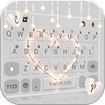 Fairy Lights Heart Keyboard Background