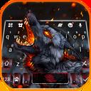 Flaming Wolf Keyboard Theme