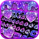 Galaxy Drop Heart Keyboard Theme