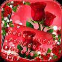 Love Red Rose Keyboard Theme