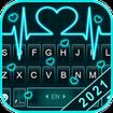 Neon Heart Love Keyboard Theme