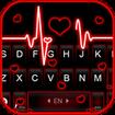 Neon Red Heartbeat Keyboard Theme