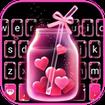 Pink Love Neon Keyboard Theme