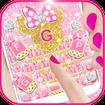 Pink Bow Minnies Keyboard theme