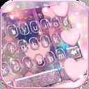 Rose Gold Heart Keyboard Theme