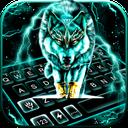 Thunder Neon Wolf Keyboard Theme